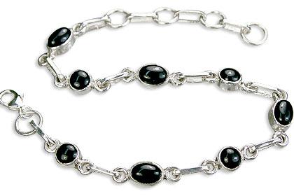 Design 14482: black black onyx contemporary bracelets