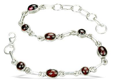 Design 14483: red garnet bracelets