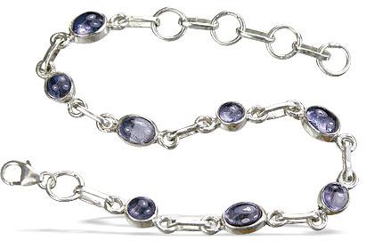 Design 14486: blue iolite contemporary bracelets