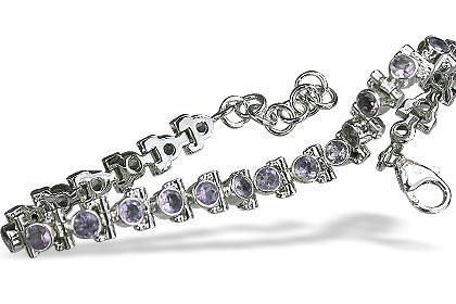 Design 14491: purple amethyst tennis bracelets