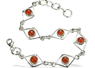 Design 14492: orange carnelian bracelets