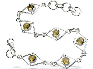 Design 14493: yellow citrine bracelets