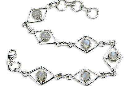 Design 14497: white moonstone art-deco bracelets