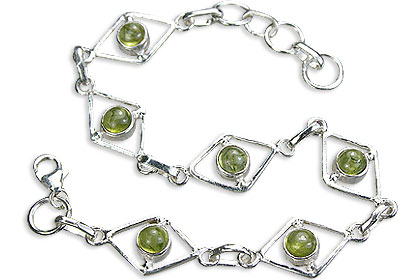 Design 14498: green peridot bracelets