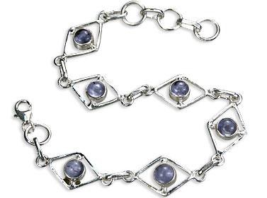 Design 14499: blue iolite bracelets