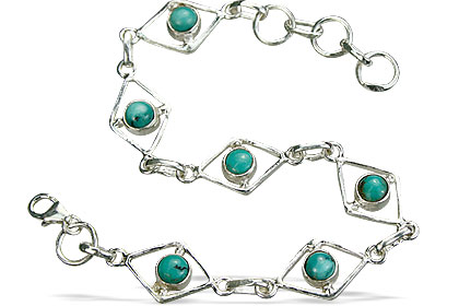Design 14501: blue,green turquoise contemporary bracelets