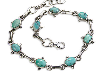 Design 14519: blue,green turquoise contemporary bracelets