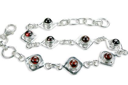 Design 14525: orange garnet bracelets