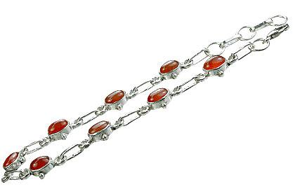 Design 14529: orange carnelian bracelets