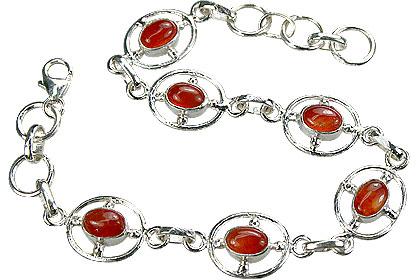 Design 14530: orange carnelian bracelets