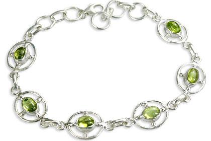 Design 14532: green peridot bracelets