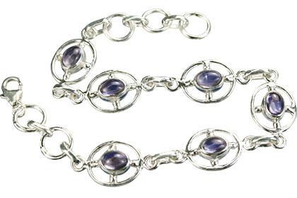 Design 14533: blue iolite bracelets