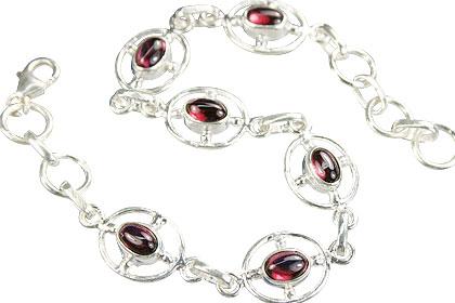 Design 14535: red garnet bracelets