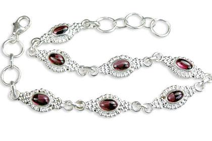 Design 14575: red garnet contemporary bracelets