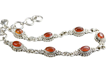 Design 14576: orange carnelian contemporary bracelets