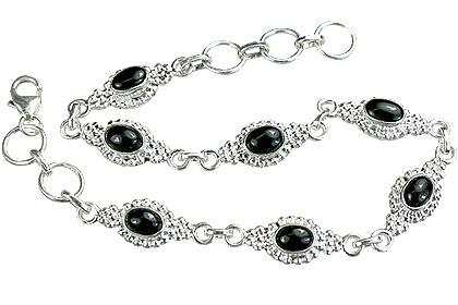 Design 14577: black black onyx bracelets
