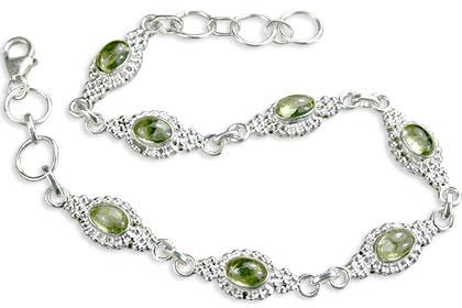 Design 14579: green peridot bracelets