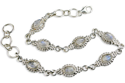 Design 14582: white moonstone bracelets
