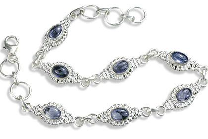 Design 14583: blue iolite contemporary bracelets