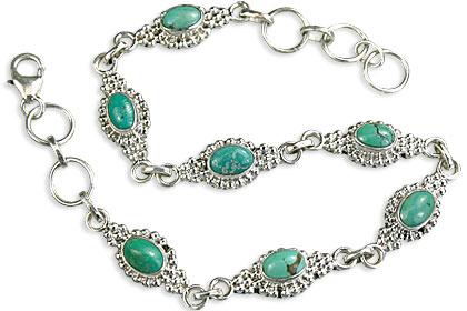 Design 14584: green turquoise bracelets