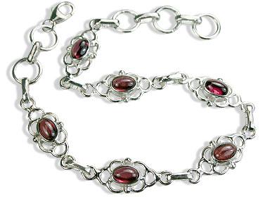 Design 14589: red garnet bracelets
