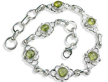 Design 14592: green peridot bracelets