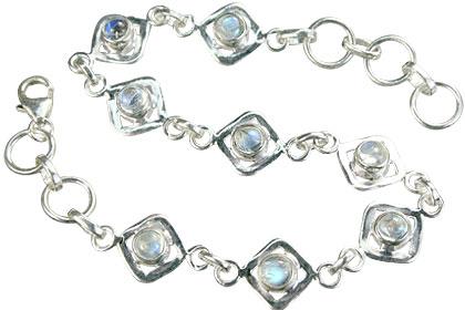 Design 14594: white moonstone bracelets