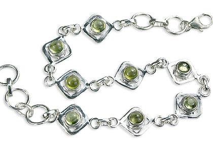 Design 14595: green peridot bracelets