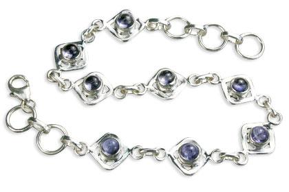 Design 14596: blue iolite bracelets
