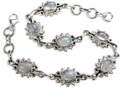 Design 14597: white moonstone bracelets