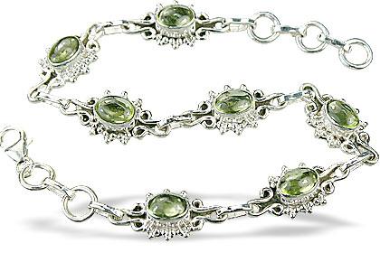 Design 14598: green peridot bracelets