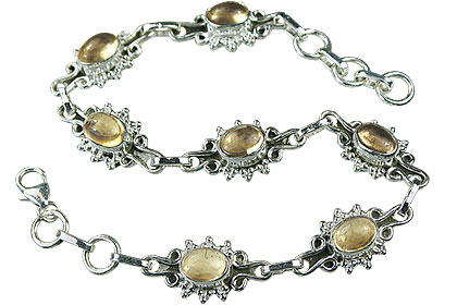 Design 14601: yellow citrine bracelets