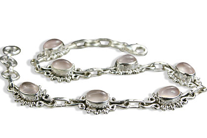 Design 14602: pink rose quartz contemporary bracelets