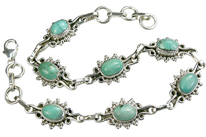 Design 14603: blue,green turquoise bracelets