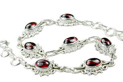 Design 14607: red garnet bracelets