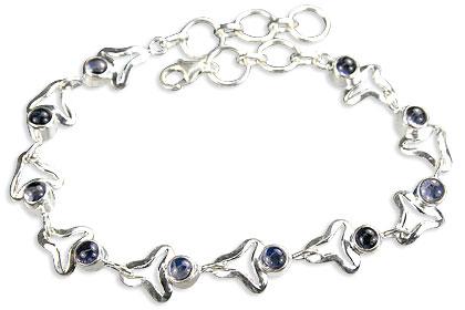 Design 14611: blue iolite bracelets