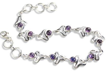 Design 14617: purple amethyst bracelets