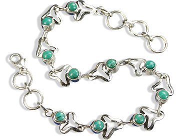 Design 14618: blue,green turquoise bracelets