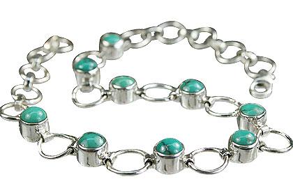 Design 14628: green turquoise bracelets