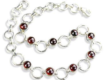Design 14630: red garnet bracelets