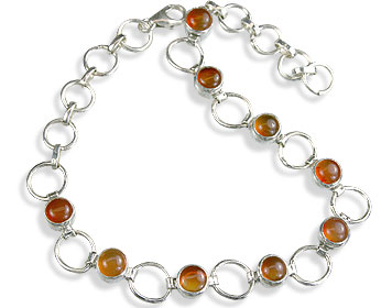 Design 14631: orange carnelian bracelets