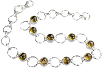 Design 14633: yellow citrine bracelets