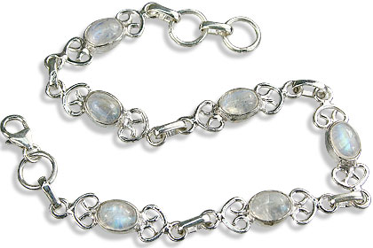 Design 14636: white moonstone bracelets