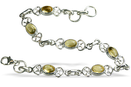 Design 14641: yellow citrine contemporary bracelets