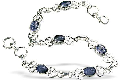 Design 14642: blue iolite contemporary bracelets