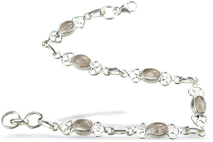Design 14643: pink rose quartz bracelets