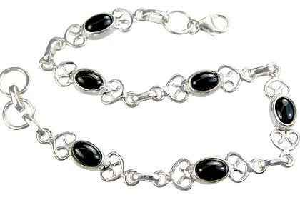 Design 14645: black black onyx contemporary bracelets