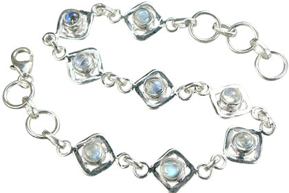 Design 14648: blue,white moonstone contemporary bracelets