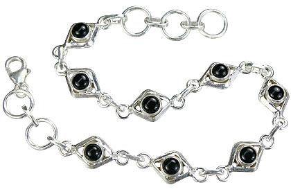 Design 14649: black black onyx bracelets