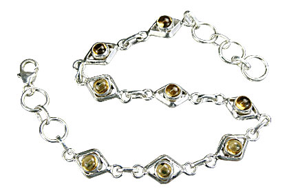 Design 14650: yellow citrine contemporary bracelets